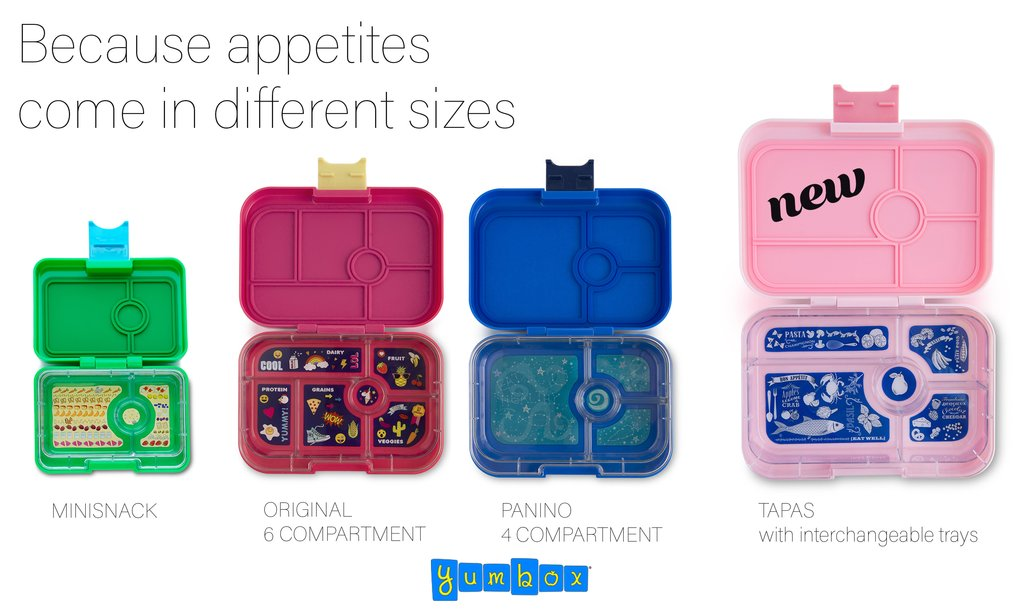 Yumbox lunch box sizes