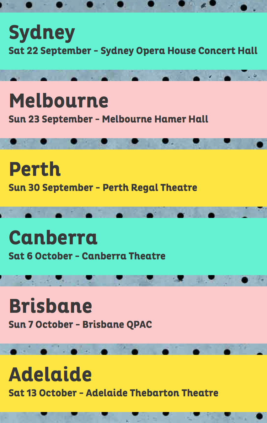 Justine Clarke Silly Songs Tour Dates