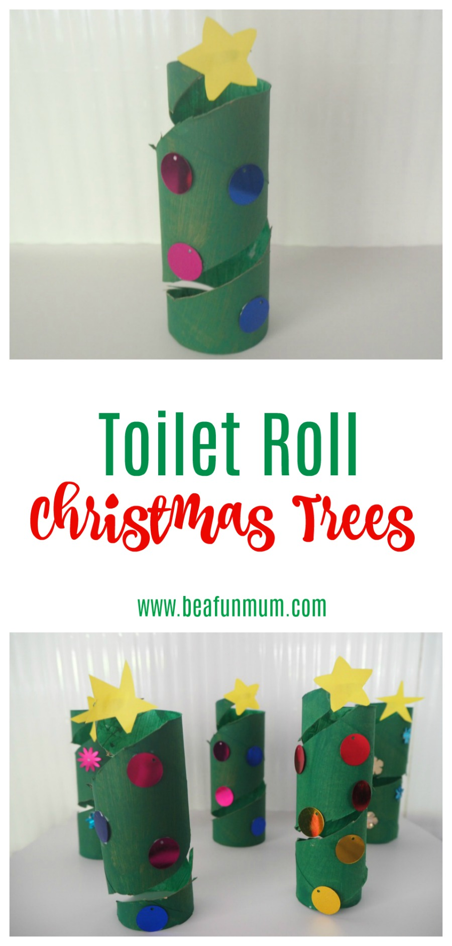 Toilet Roll Christmas Trees
