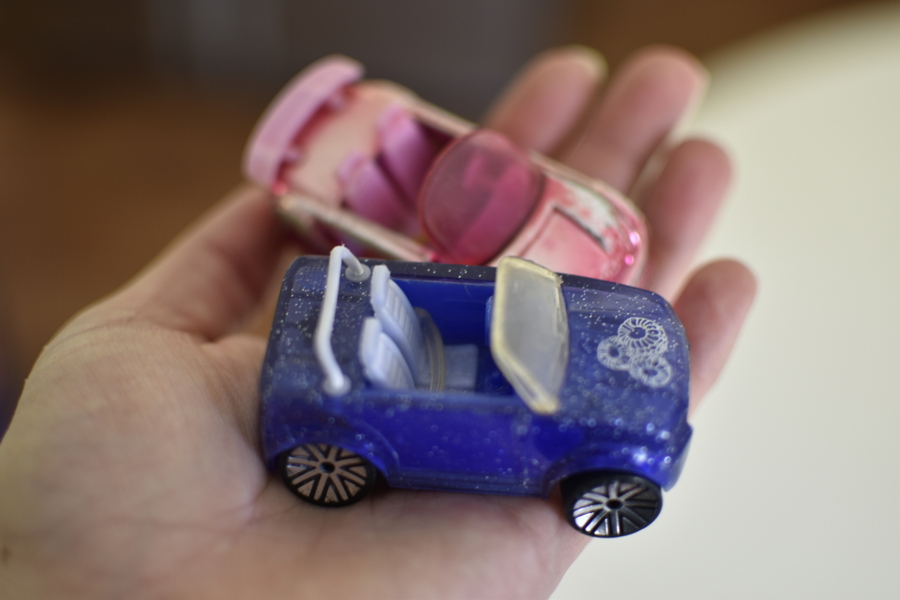 polly pocket cars
