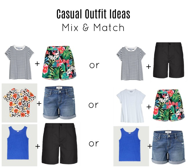 casual outfit ideas mix and match