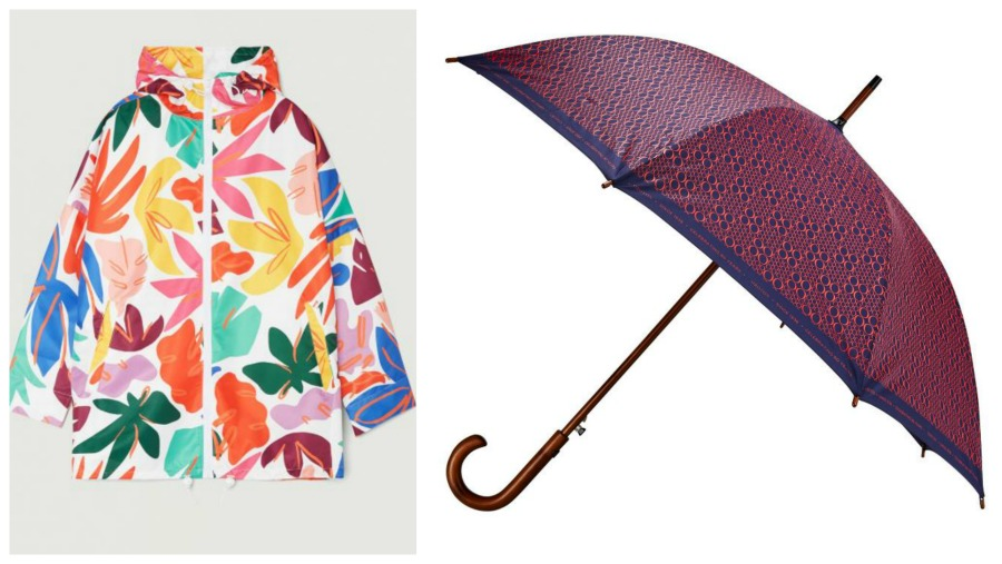raincoat and umbrella