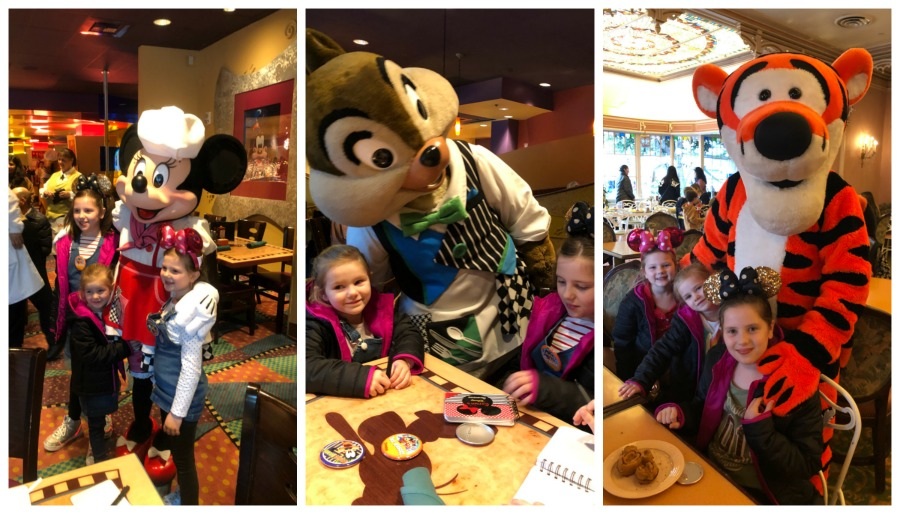 breakfast with Disneyland Characters