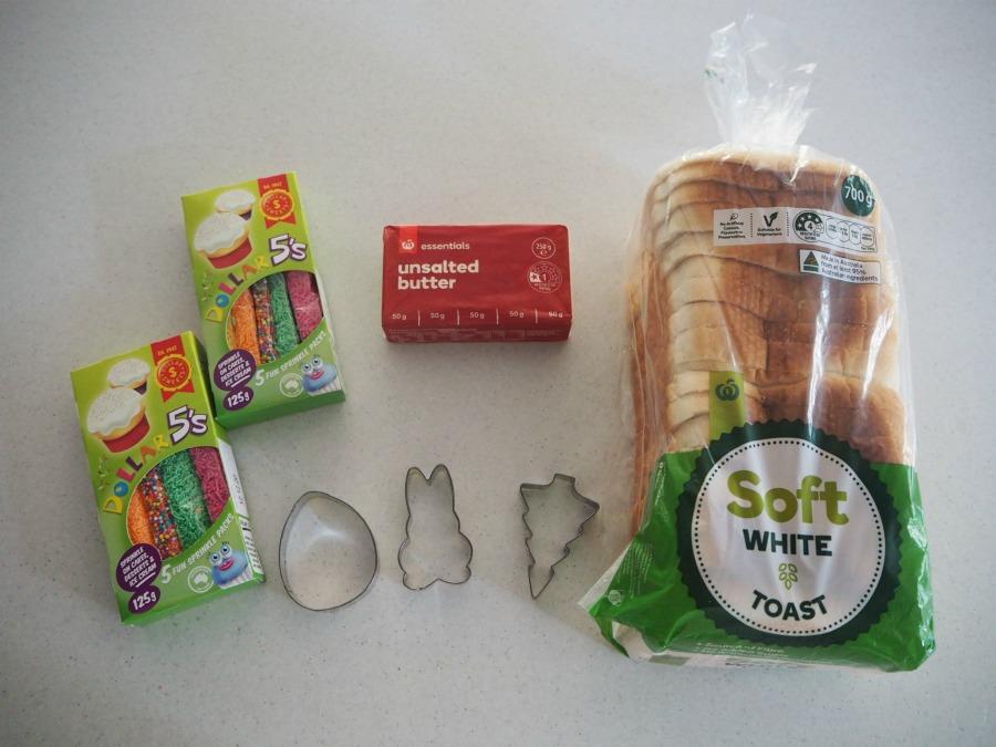 Easter Fairy Bread Ingredients