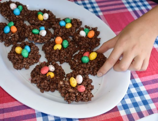 No bake Easter chocolate crackles