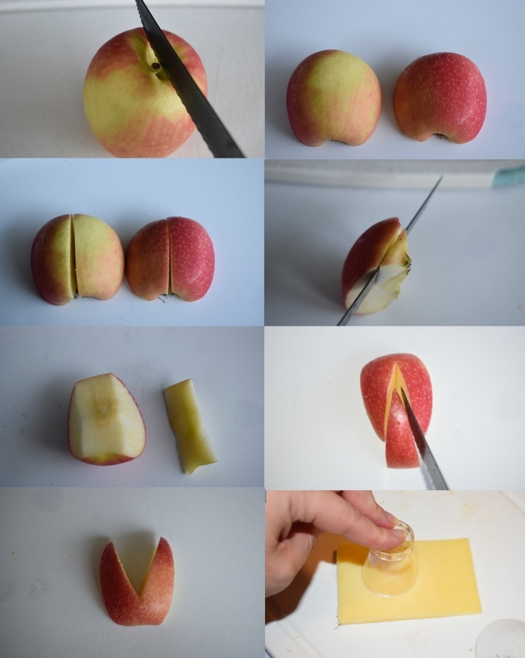Easter Food Ideas - apple bunny ears