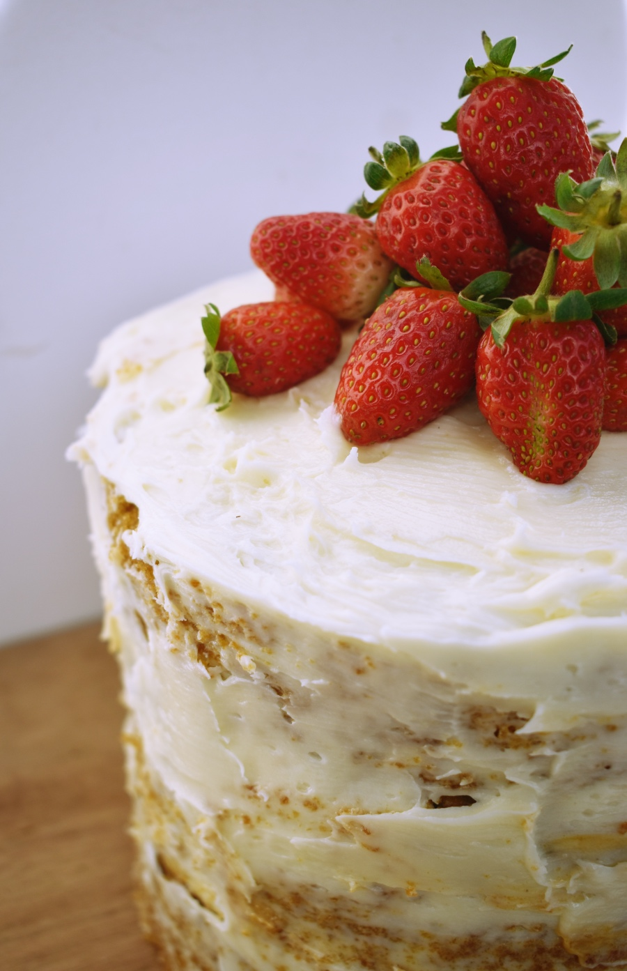 woolies cake hack - naked cake with strawberries