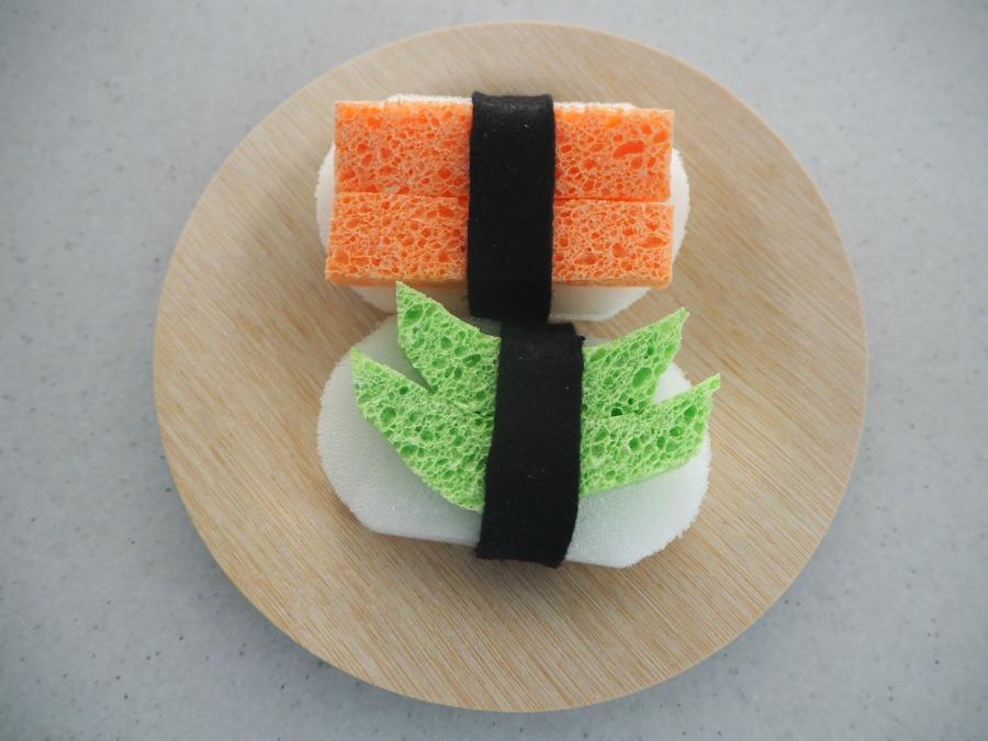 felt and sponge sushi