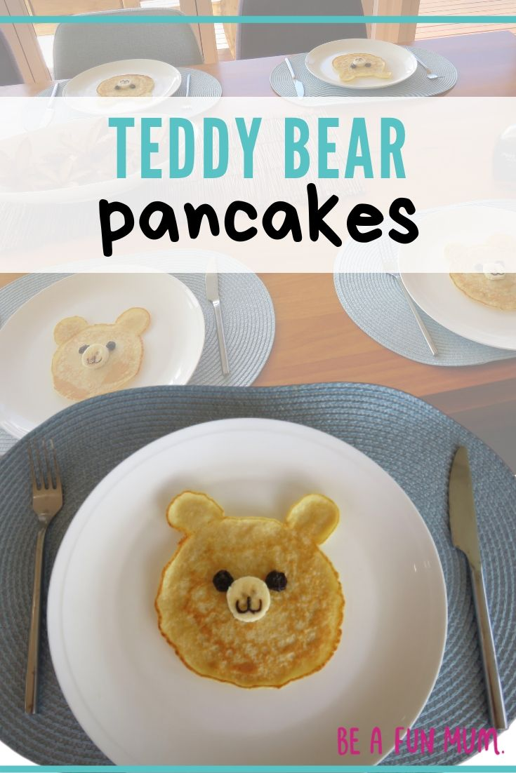 CUTE Teddy Bear pancakes