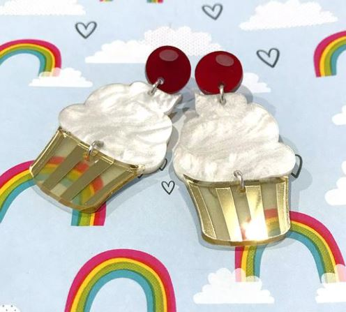 cupcake statement earrings