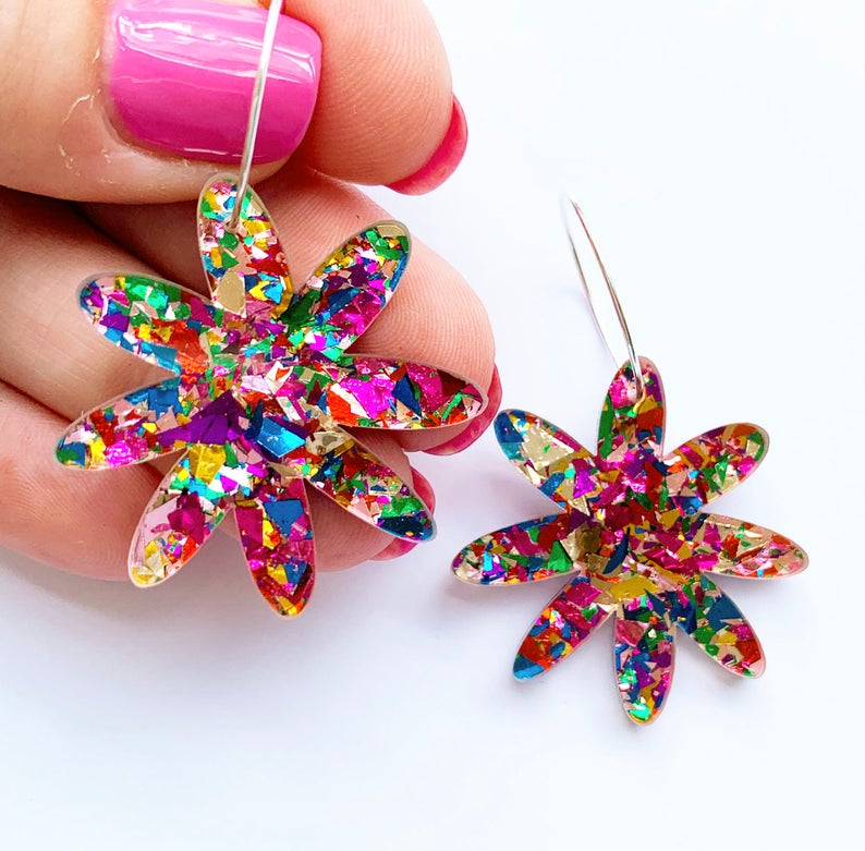 confetti statement earrings