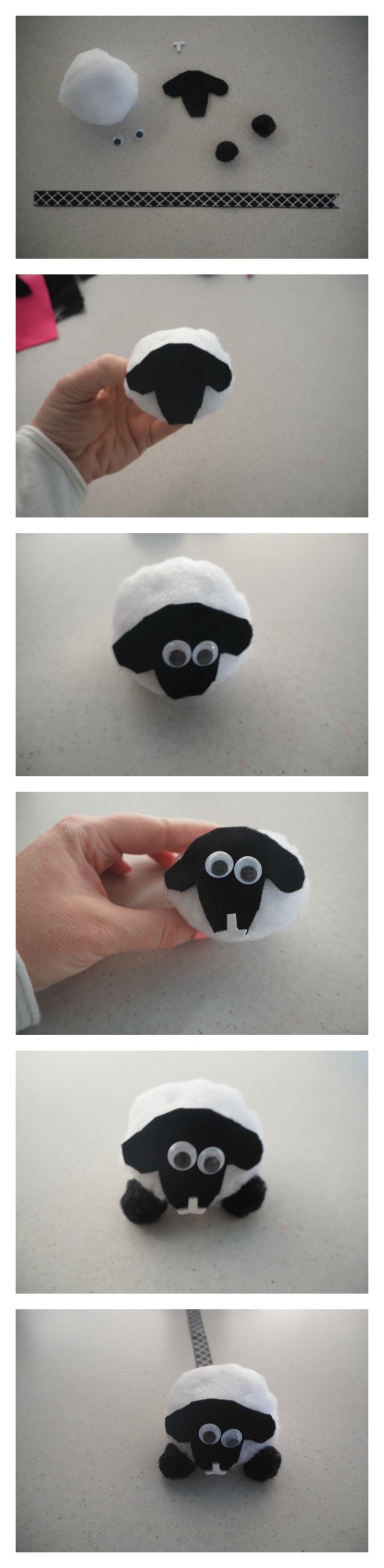 sheep pom pom bookmark