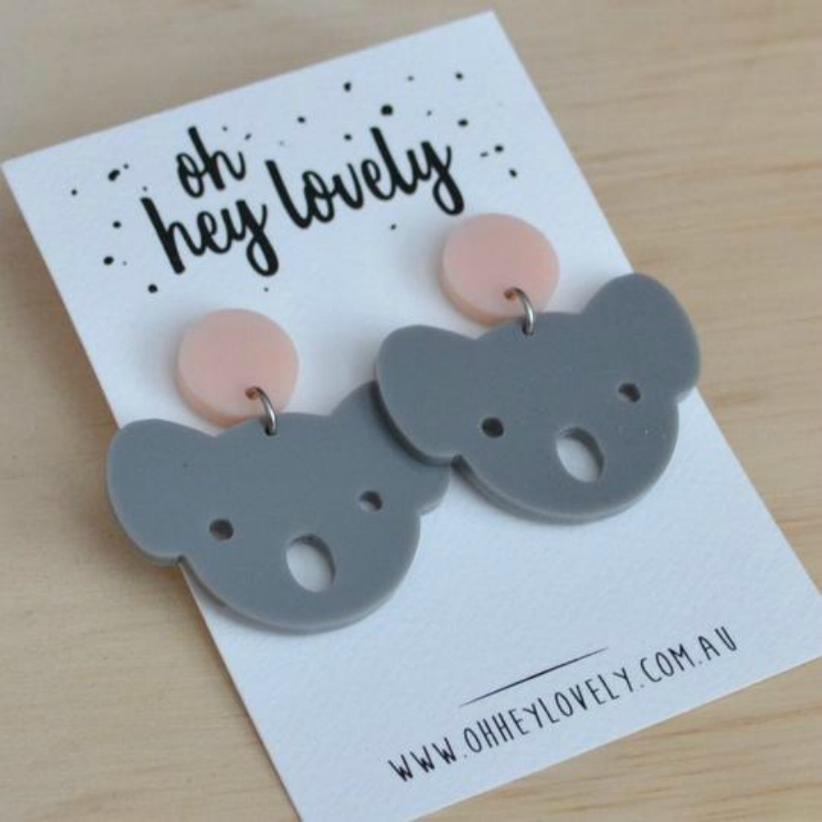aussie koala statement earrings