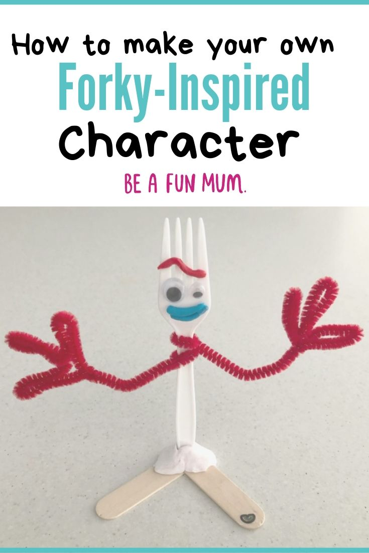 how to make your own forky inspired character toy story