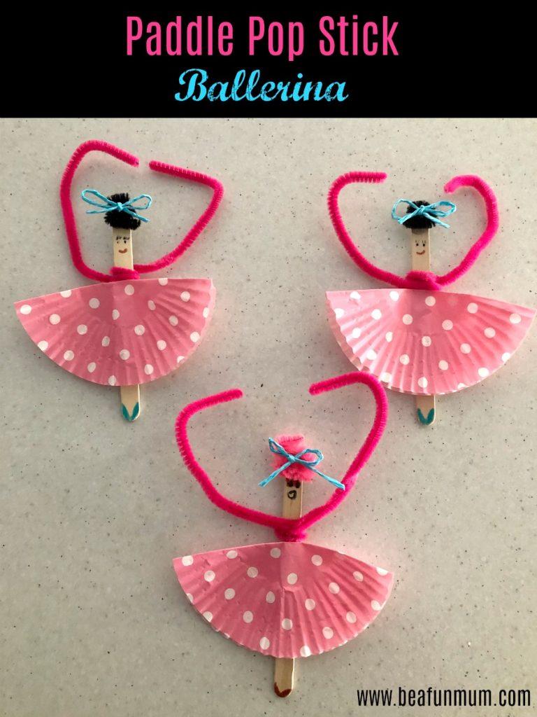 Paddle pop stick ballerina craft