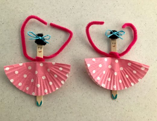 Paddle pop stick ballerina craft
