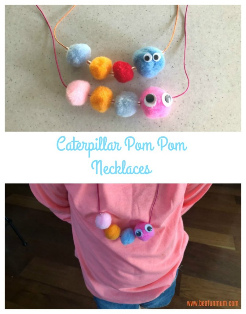 Pom Pom Caterpillar necklaces