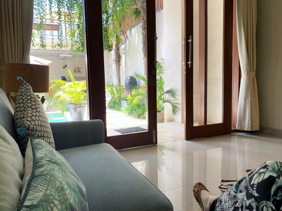 Casa Daha Bali Review -- Downstairs Living Area