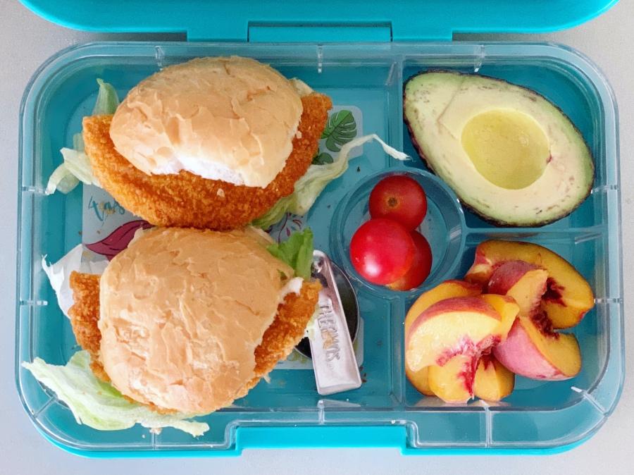 sandwich free lunch box ideas -- burger
