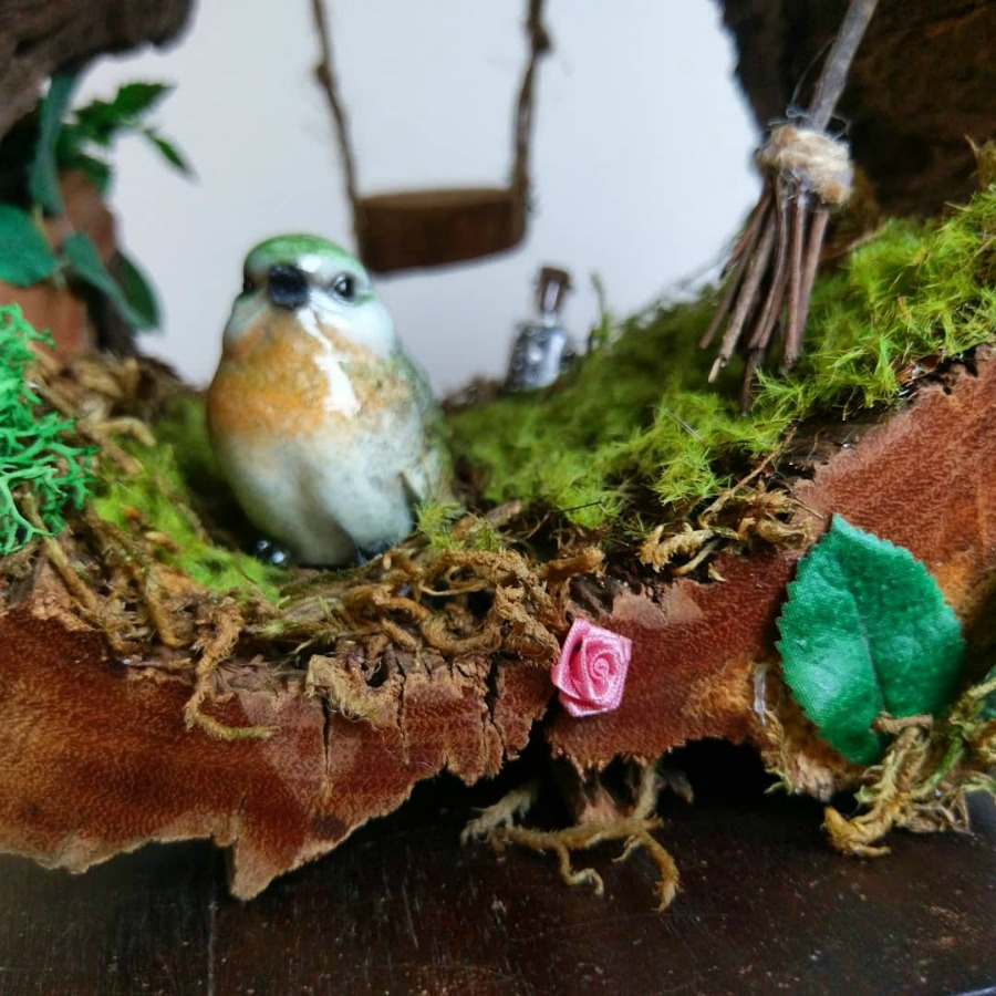 bird in fairy house