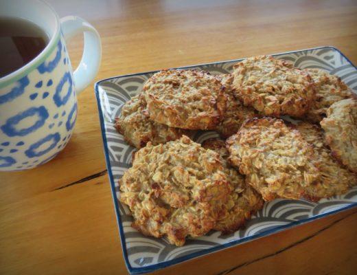 Gluten-Free Banana Oat Biscuit Recipe - lunch box recipes