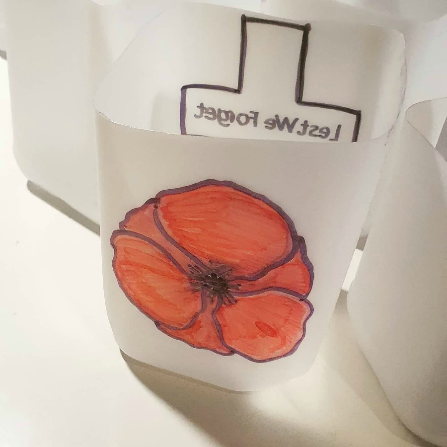 Anzac Tea Light Holder