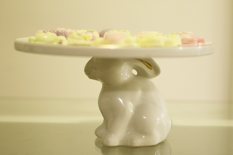 How to make Easter pastel chocolates bunny platter