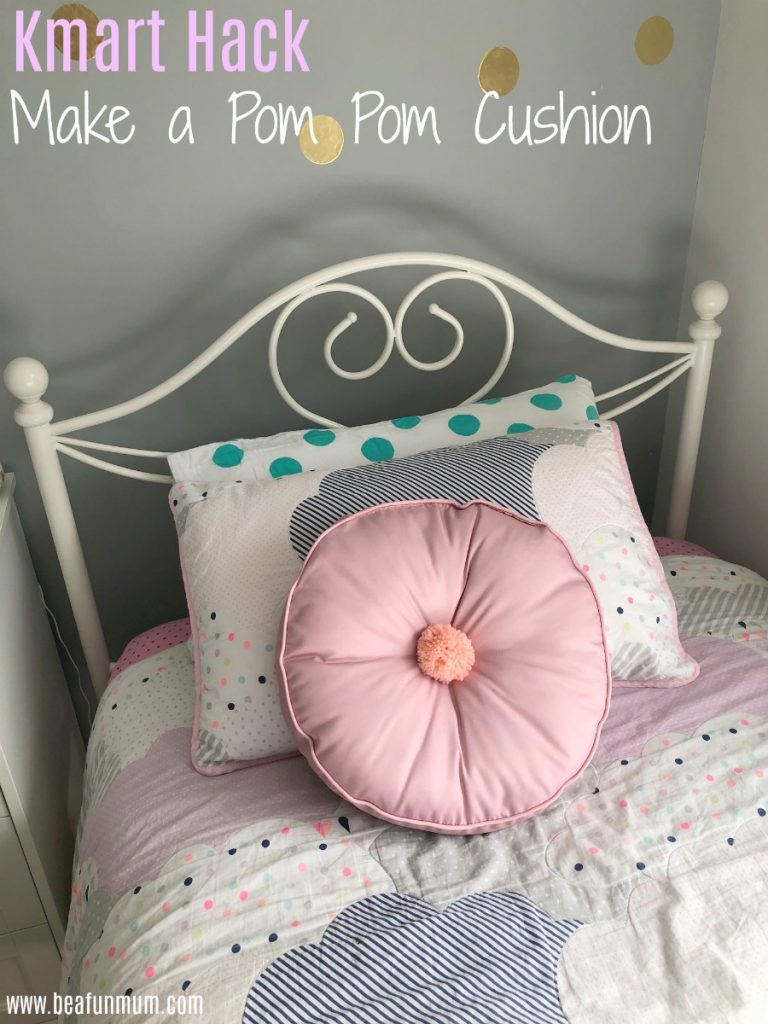 Pom Pom cushion Kmart Hack
