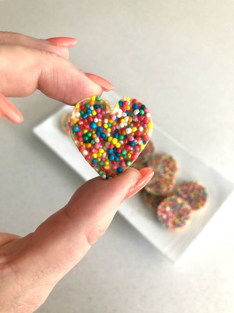Heart chocolate freckle