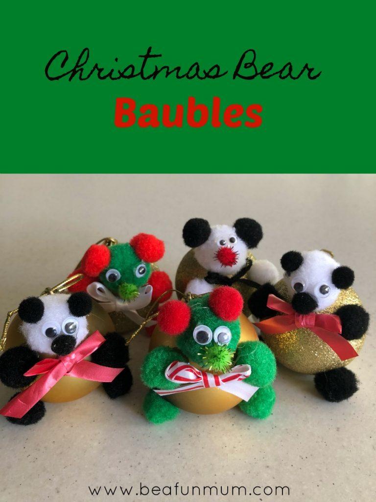 Christmas Bear Baubles