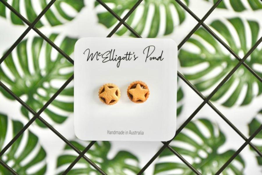 Fruit Mince Pie Christmas Earrings