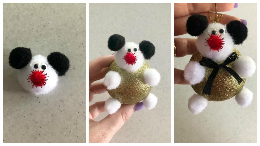 make a a bear Christmas Bauble