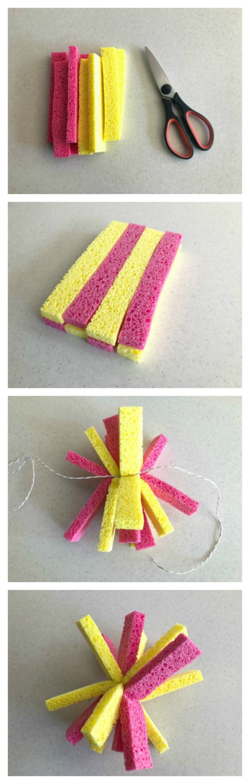 how to make water bombs from sponges