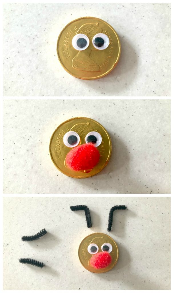 Turn a gold coin into a Rudolph