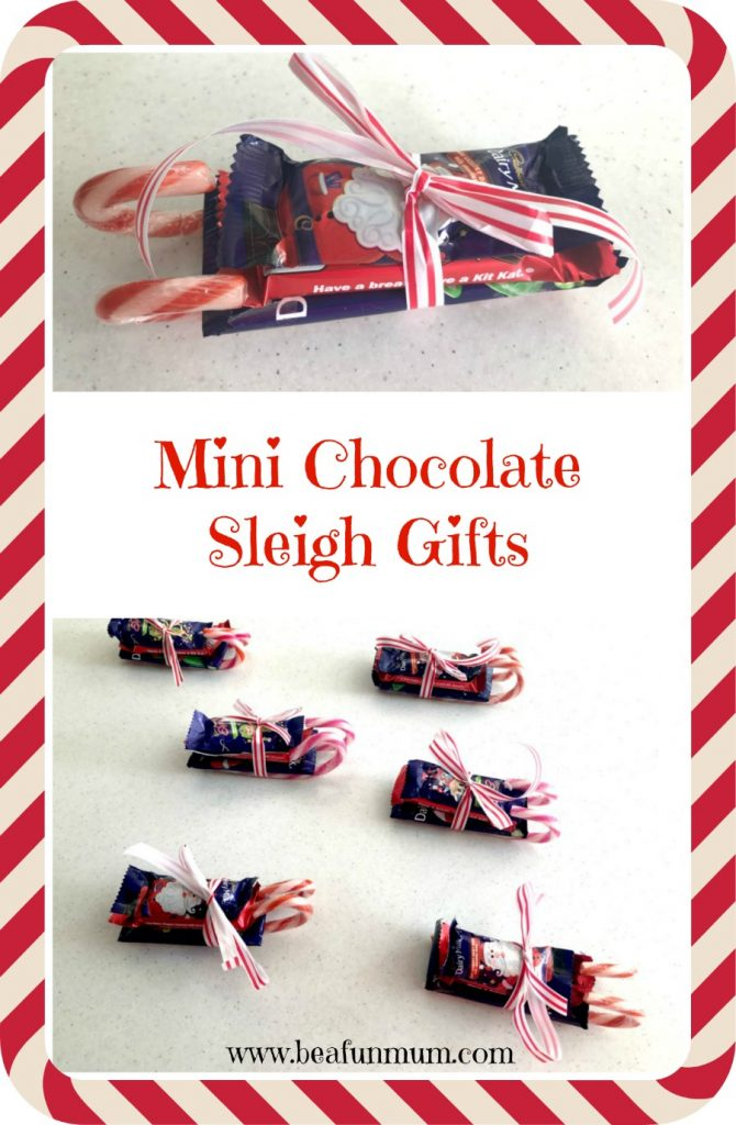 Mini chocolate sleigh gifts