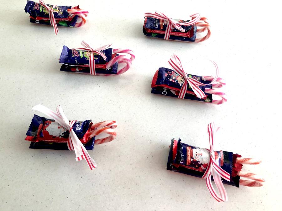 Make chocolate sleigh gifts