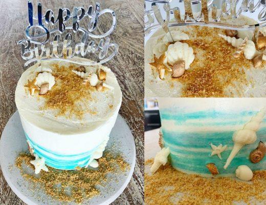 beach and ocean themed cake idea