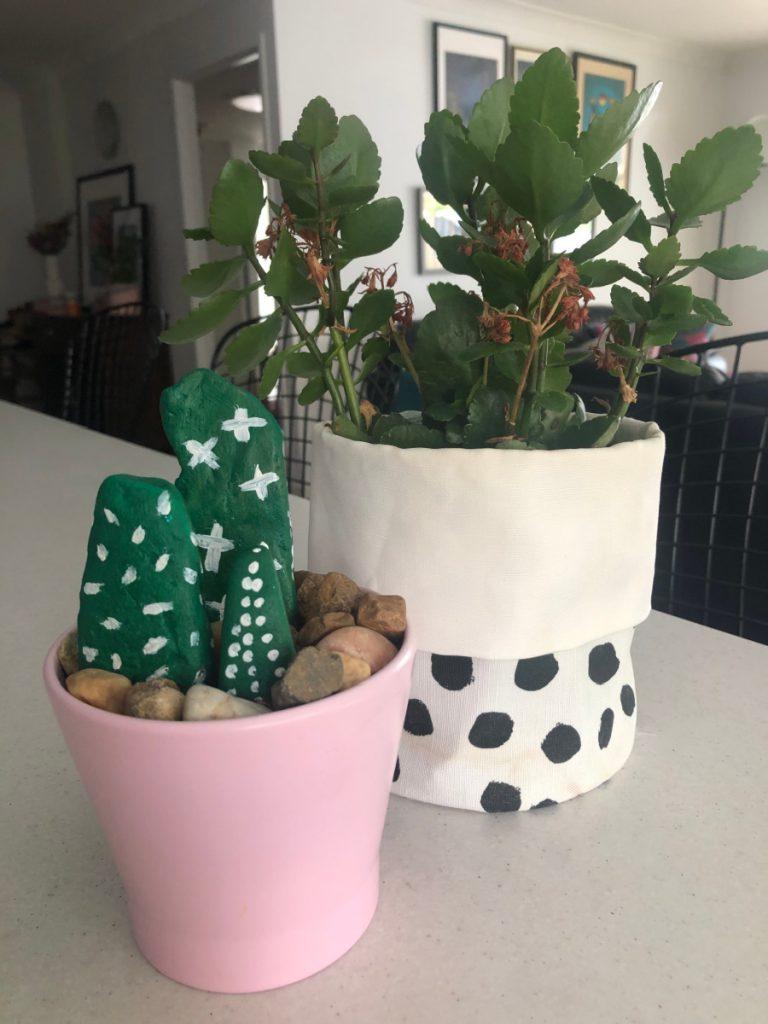 rock cactus decor