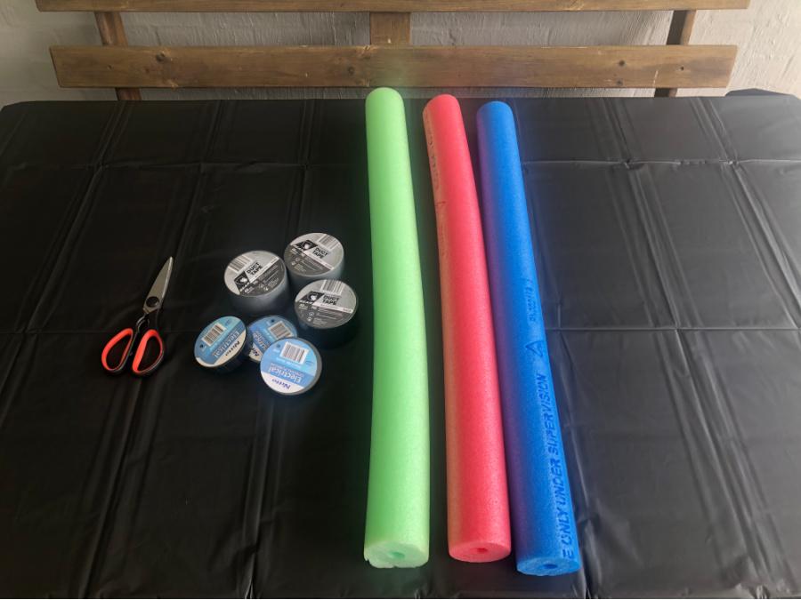 pool noodle lightsaber materials