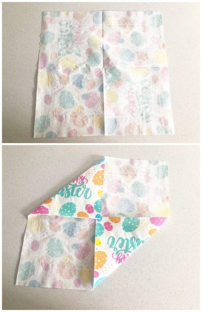 folding a napkin