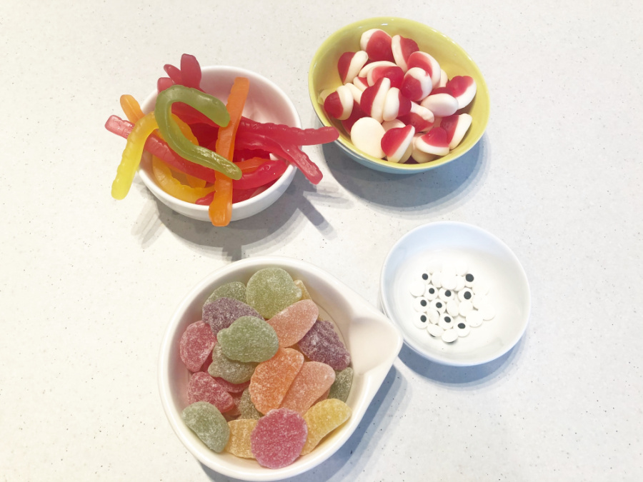 lollies for Chocolate egg decorating