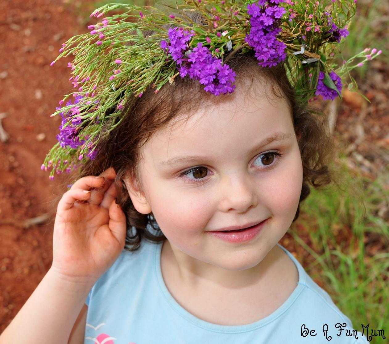 how to make a flower head wreath