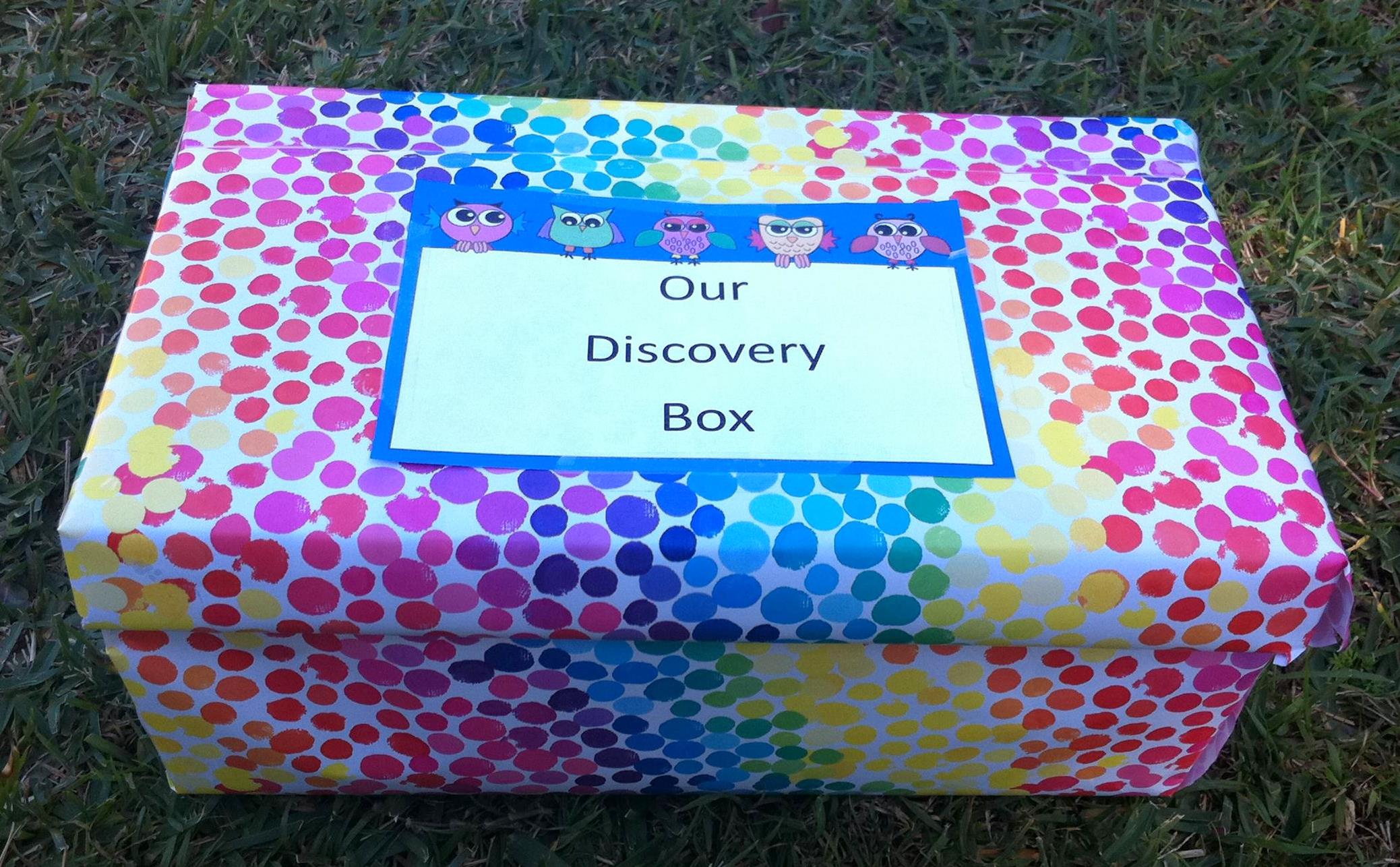 nature crafts for kids -- discovery box