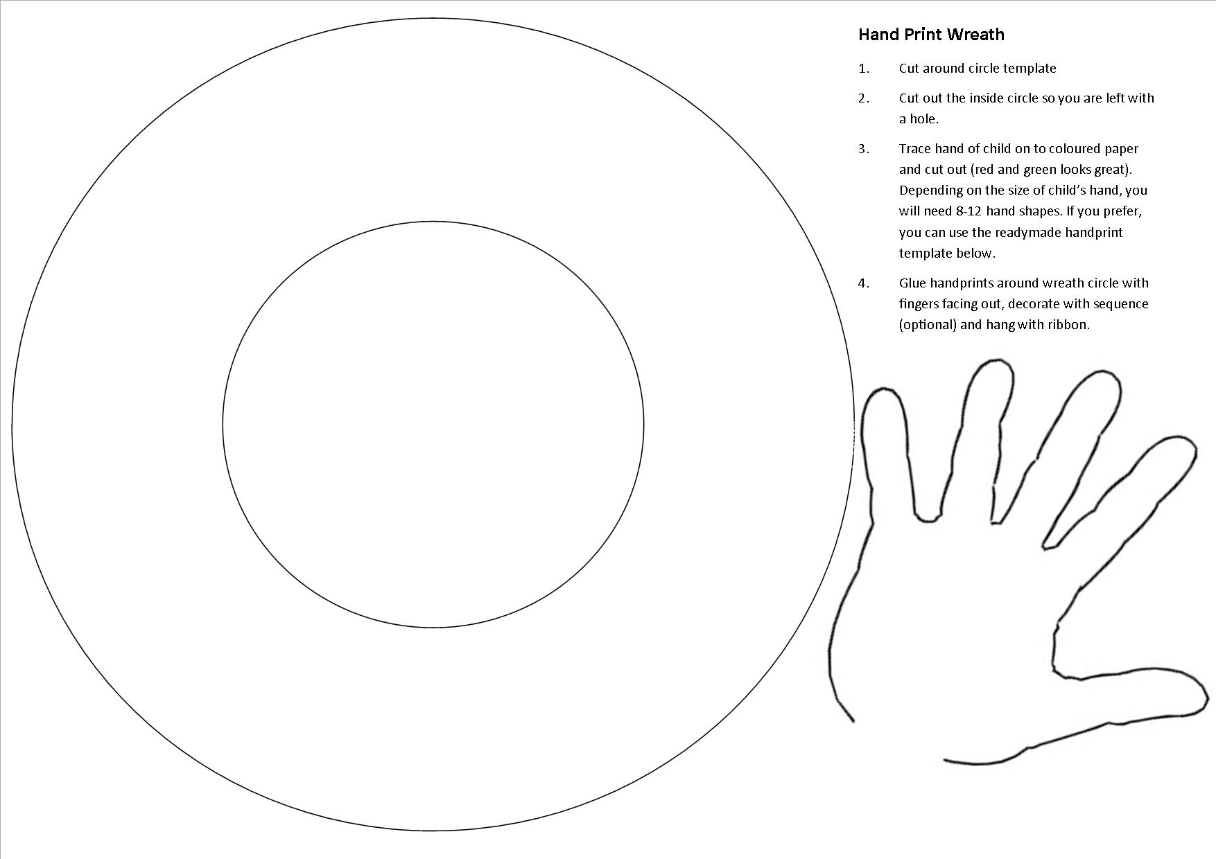 Pictures of Christmas Wreath Template - www.kidskunst.info