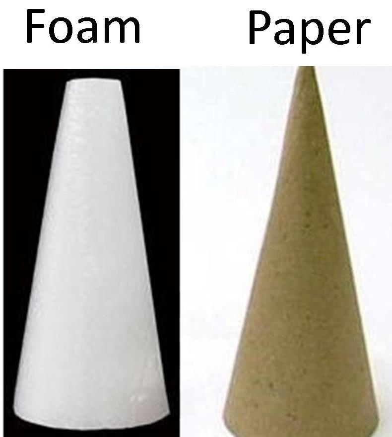 On Christmas Tree Styrofoam Cone Paper What Glue To Use