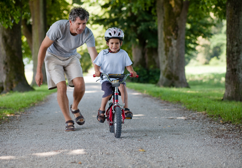 teaching your child to ride a bike
