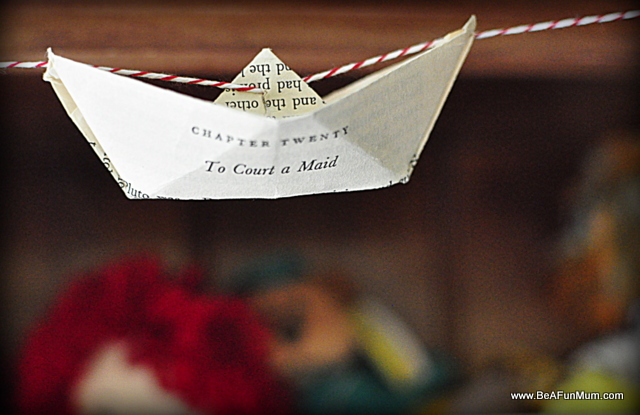 vintage paper boat garland tutorial