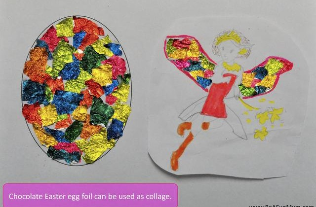 Easter Egg Foil Collage