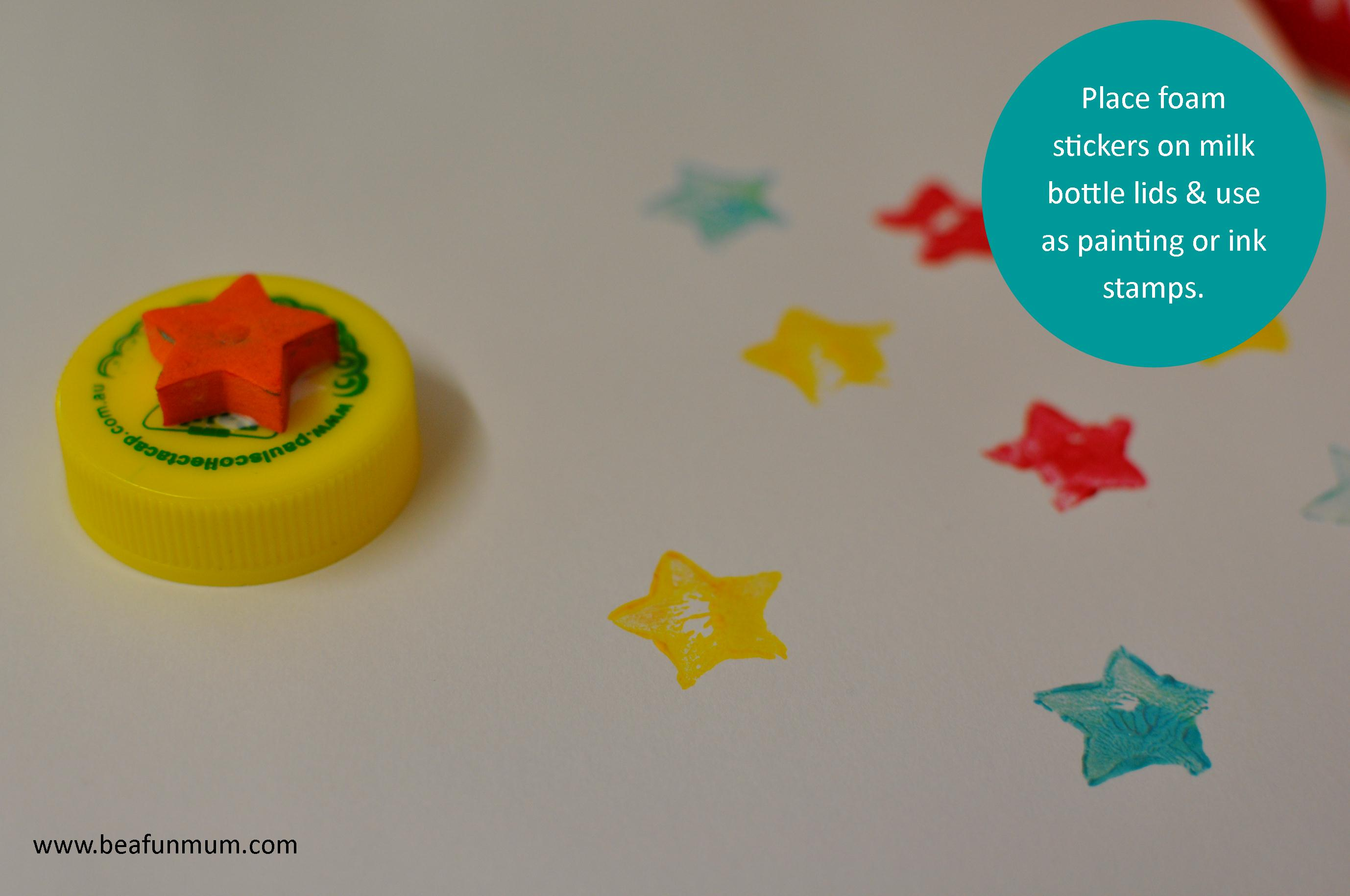 milk bottle lid stamps