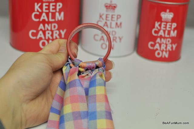 make a ribbon dancing ring
